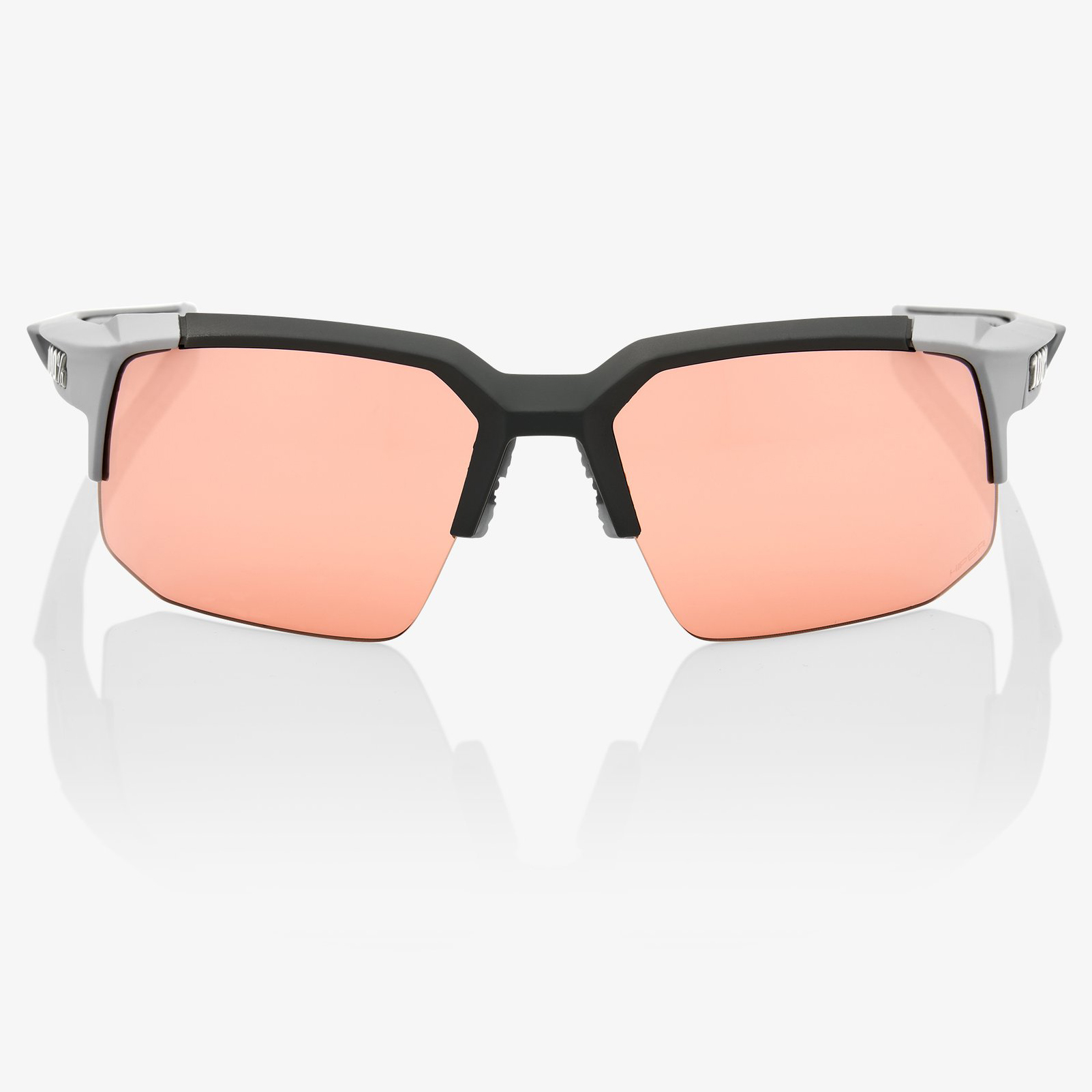 Imagen de 100% Speedcoupe HD Multilayer HiPER Lens - Soft Tact Stone Grey/Coral + Clear