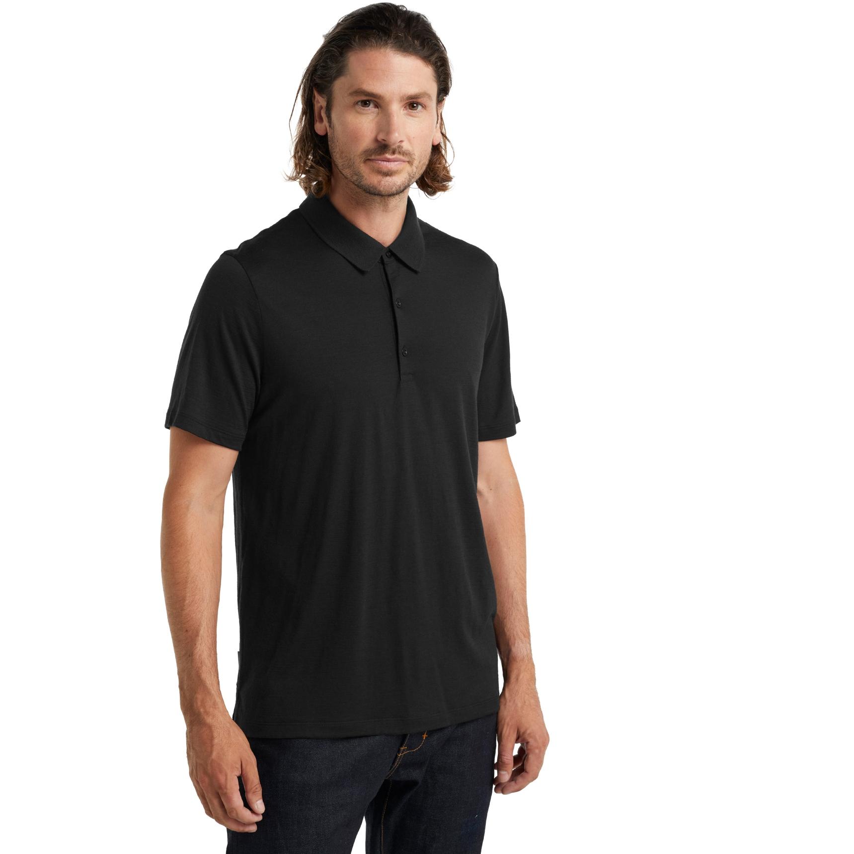 Bild von Icebreaker Tech Lite II Herren Polo-Shirt - Black