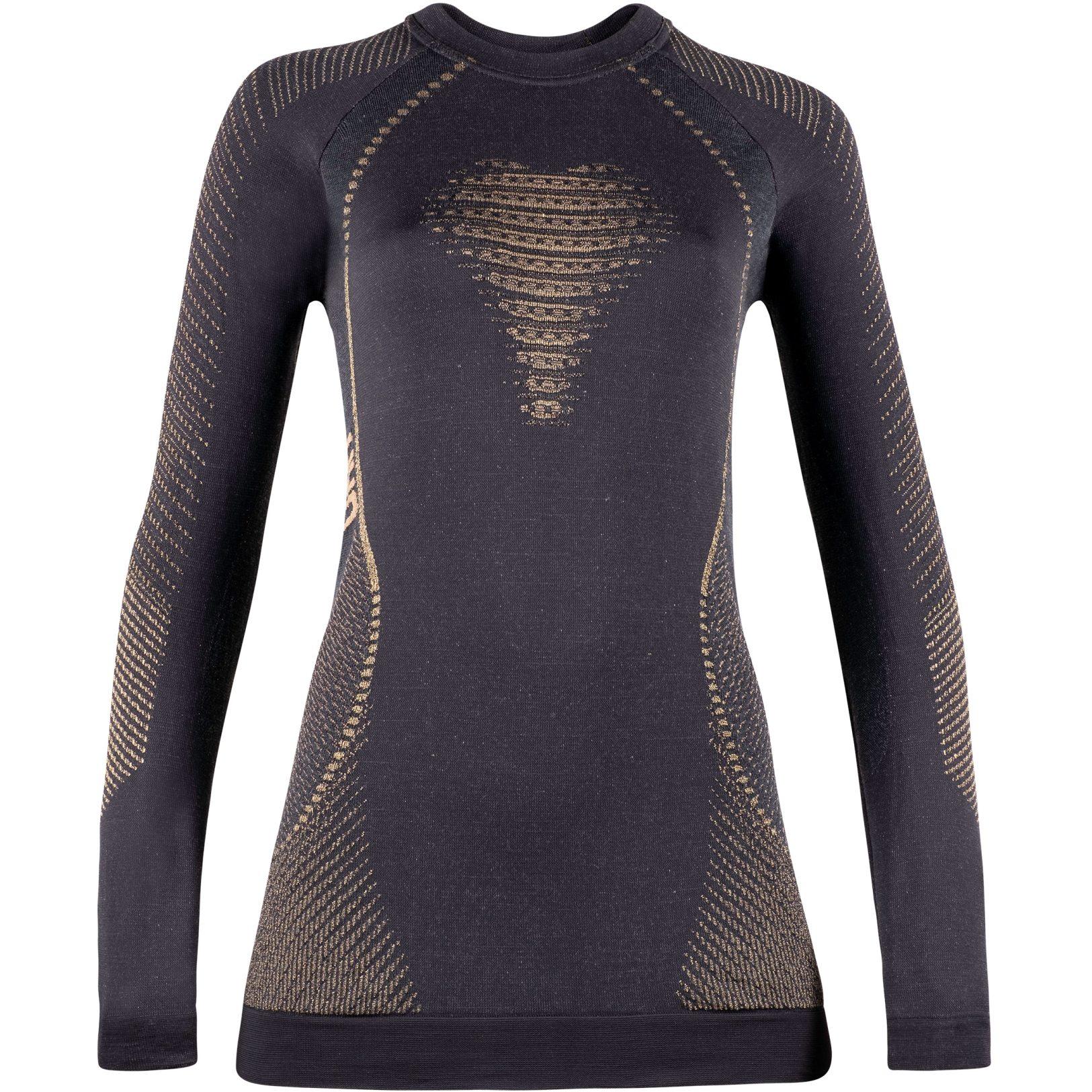UYN Cashmere Shiny 2.0 Underwear Langarmshirt Damen - Celebrity Gold