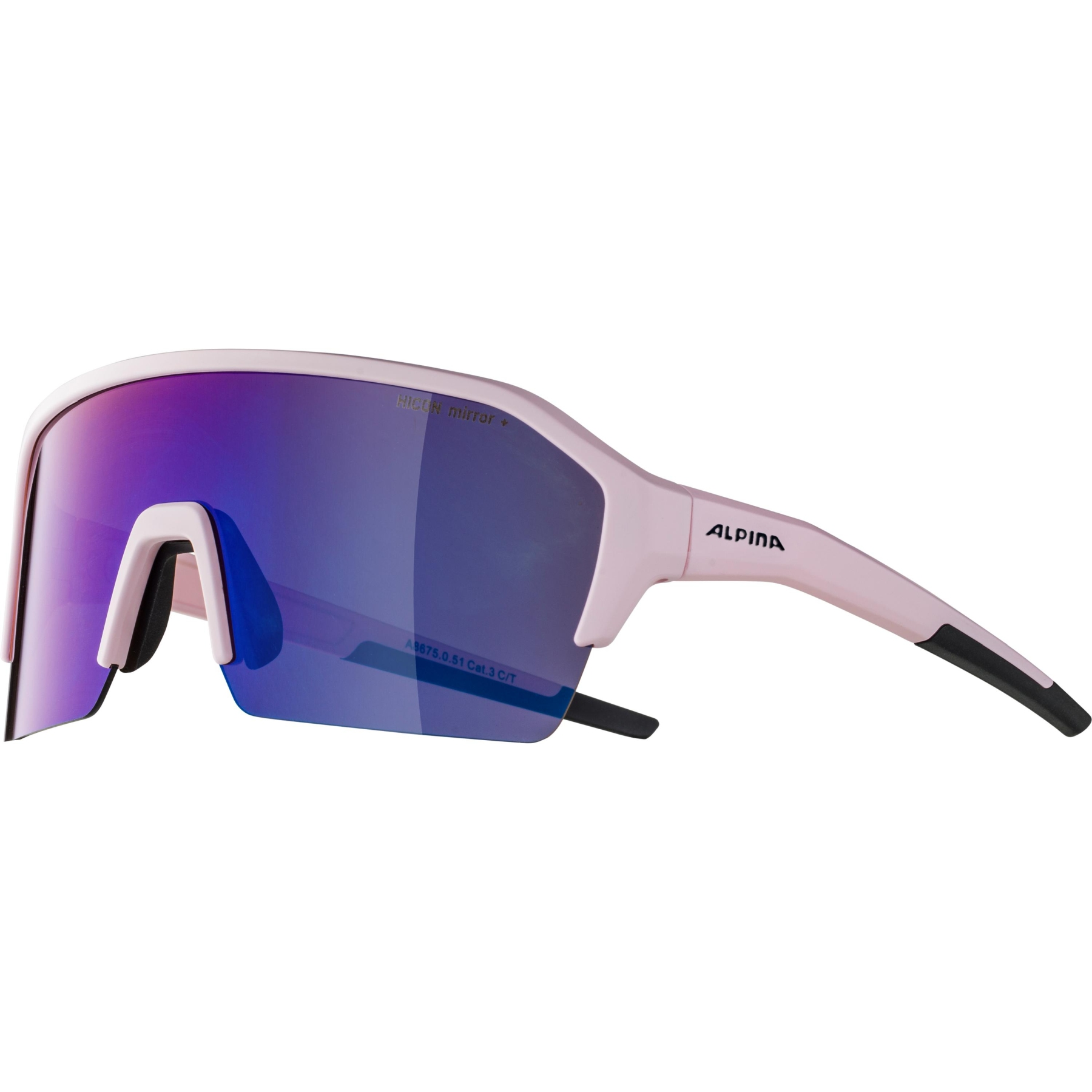 Image of Alpina Ram HR HM+ Glasses - light-rose matt / Hicon blue mirror