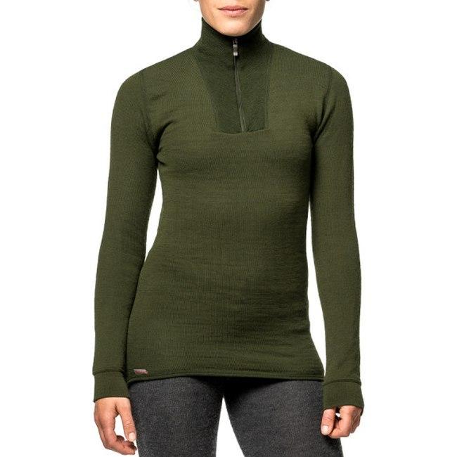Bild von Woolpower Zip Turtleneck 200 Unisex Langarm-Unterhemd - pine green
