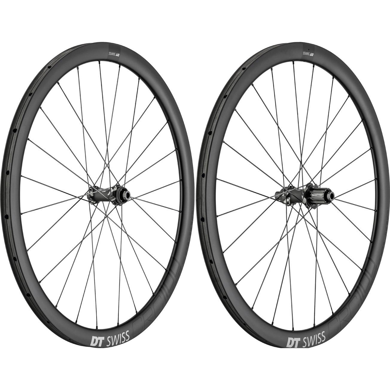 DT Swiss CRC 1100 SPLINE T db 38 - Carbon - Wheelset - Tubular - Centerlock - FW: 12/15x100mm/QR | RW: 12x142mm/QR