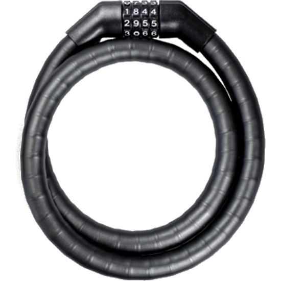 Trelock PK 360 CODE Armoured Cable Lock - black