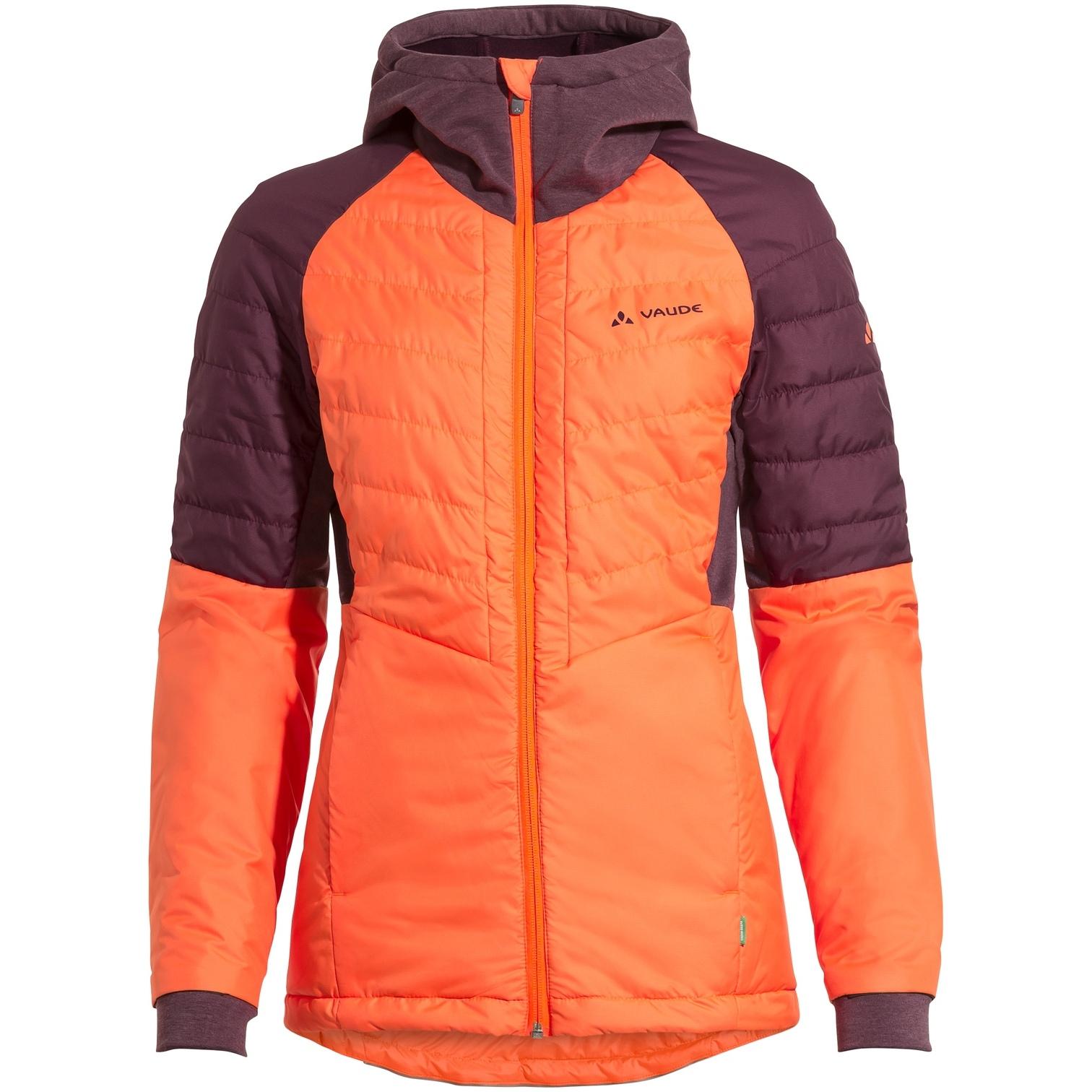 Image of Vaude Women's Cyclist Hybrid Jacket - neon orange