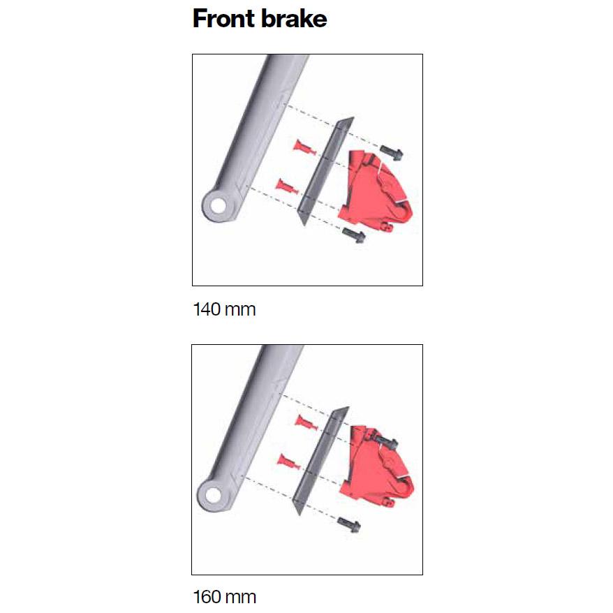 Image of BMC Disc Brake Adapter FW / Fork - 140/160mm - Flat Mount - 300710