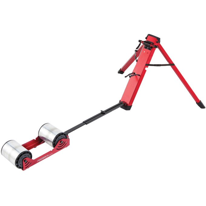 Produktbild von Feedback Sports Omnium Portable Trainer - IPR-110 Rollentrainer mit magnetischer Widerstandseinheit - rot