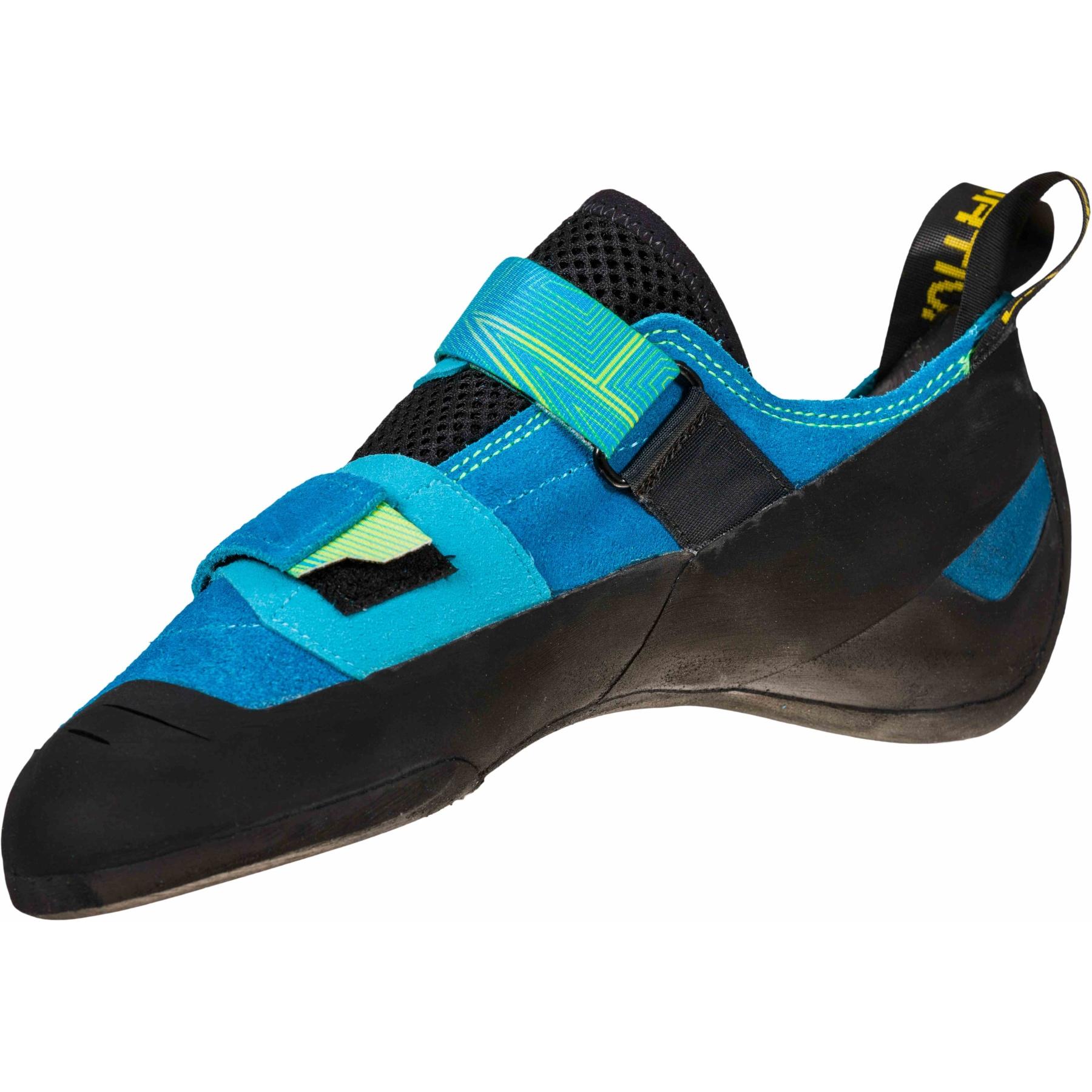 Image of La Sportiva Aragon Climbing Shoes - Neptune/Citrus