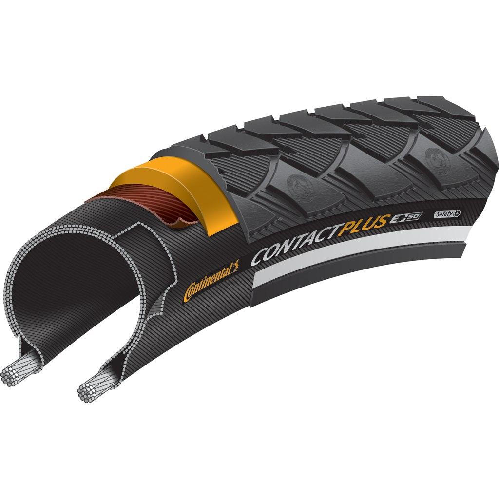 Image of Continental Contact Plus E-Bike Wire Bead Tire ECE-R75 - 42-635 - Black Reflex