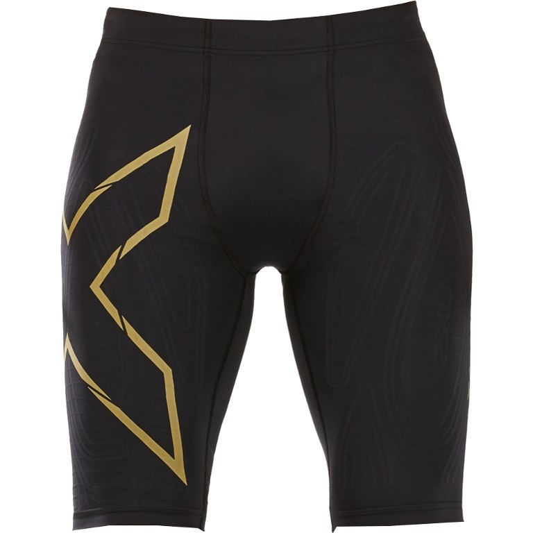 Imagen de 2XU Elite MCS Run Compression Pantalones cortos - black/gold reflective
