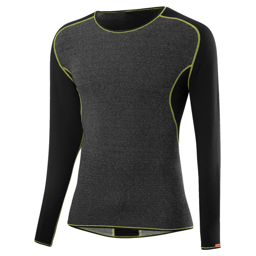 Löffler Shirt L/S Transtex® Warm CB 25328 - black/light green 993