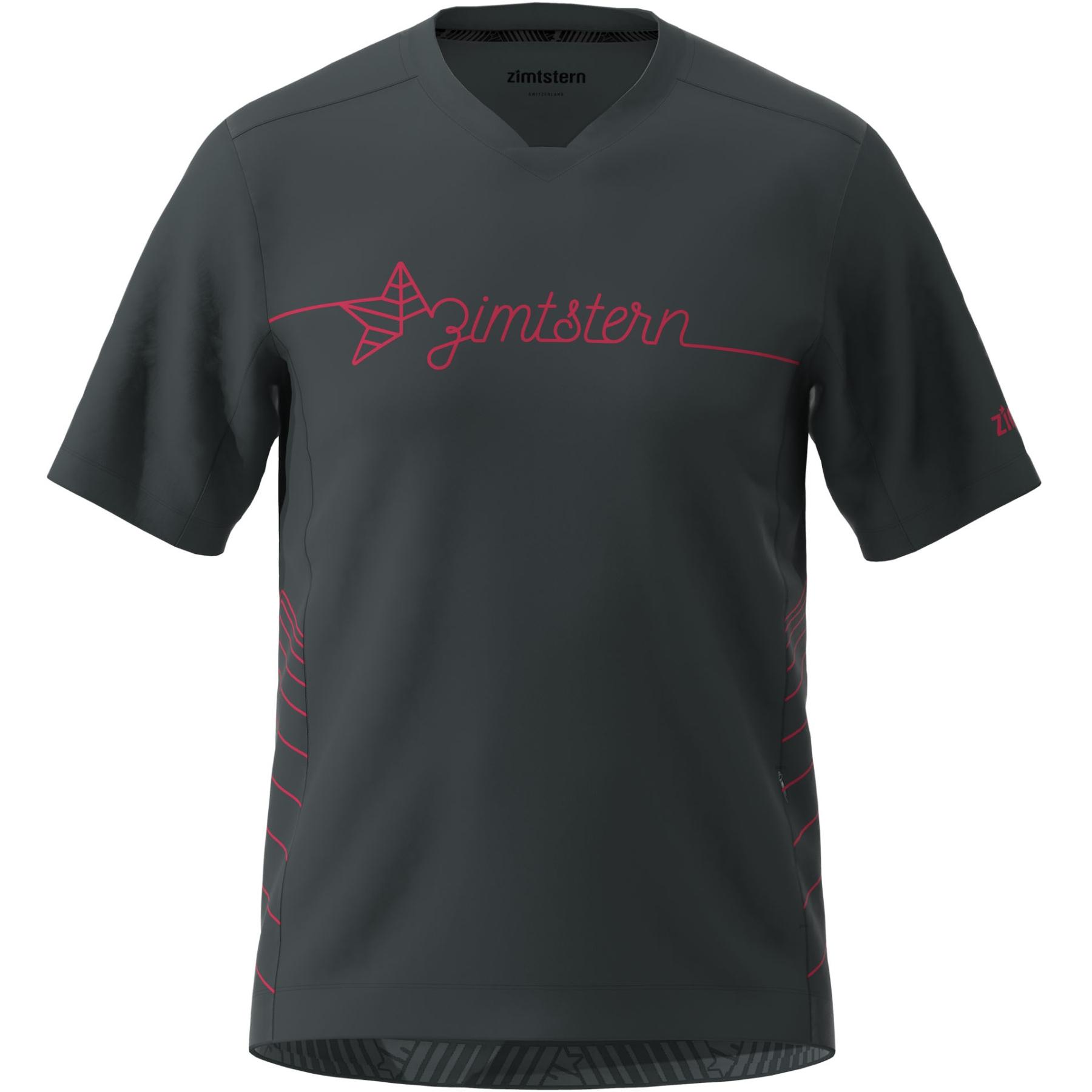 Zimtstern EcoFlowz Kurzarm-Shirt - pirate black/jester red