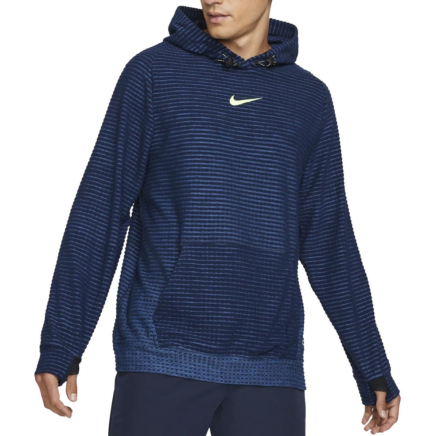 Foto de Nike Pro Therma-Fit ADV Fleece Sudadera con Capucha para Hombre - obsidian/court blue/volt DD1707-451