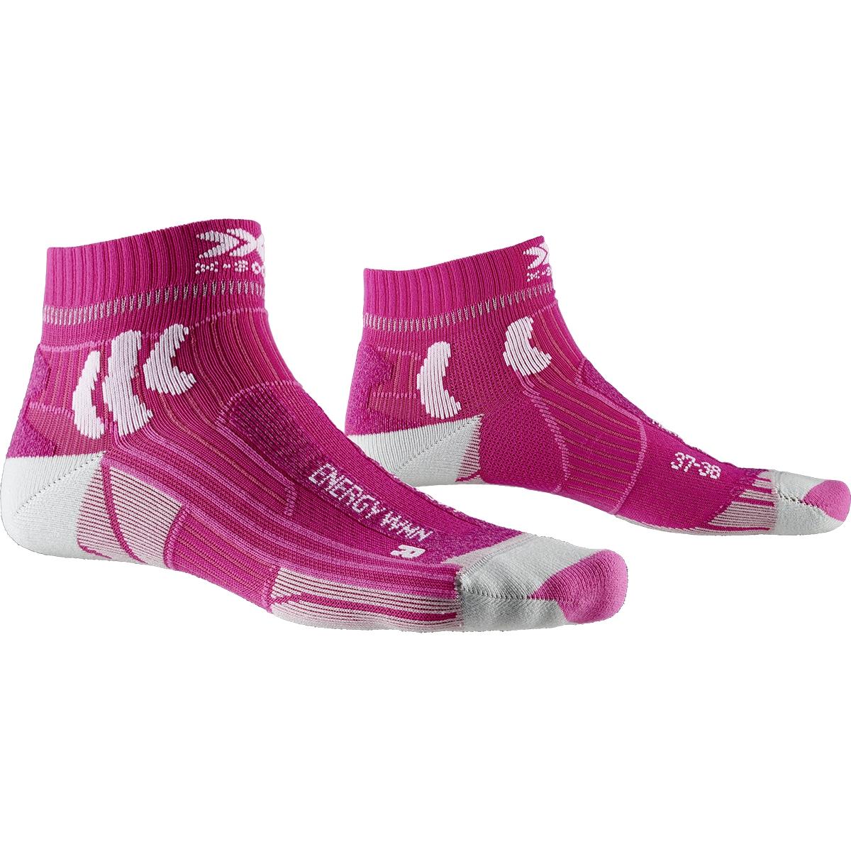 Bild von X-Socks Marathon Energy Damen Laufsocken - flamingo pink/arctic white
