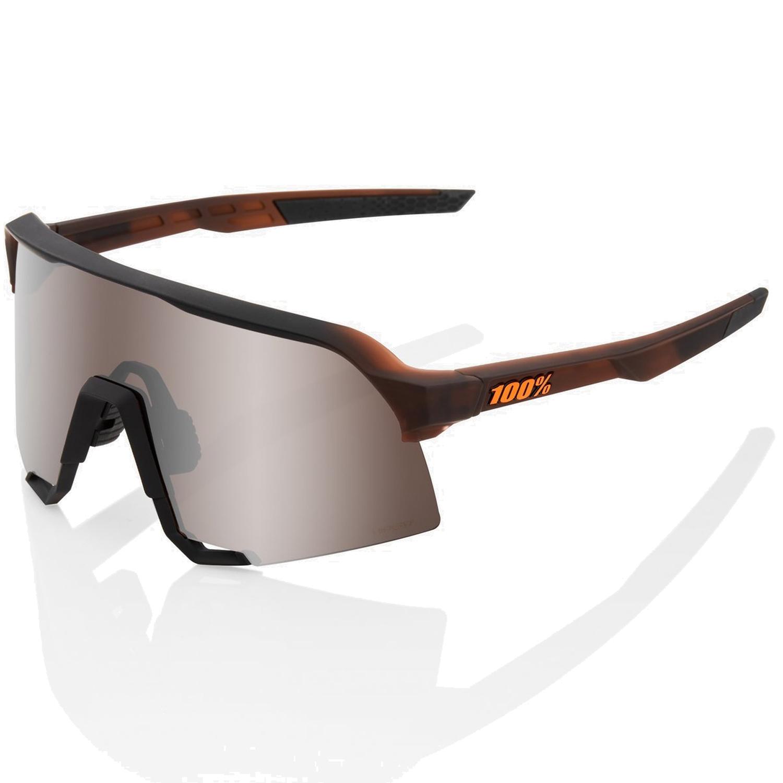 Imagen de 100% S3 HiPER Mirror Gafas - Matte Translucent Brown Fade/Silver + Clear