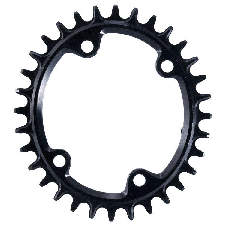 Garbaruk Melon Narrow-Wide Chainring for Shimano FC-M6-/M7-/M8000 - Oval - 4-Arm - 96mm Asymmetrical - black