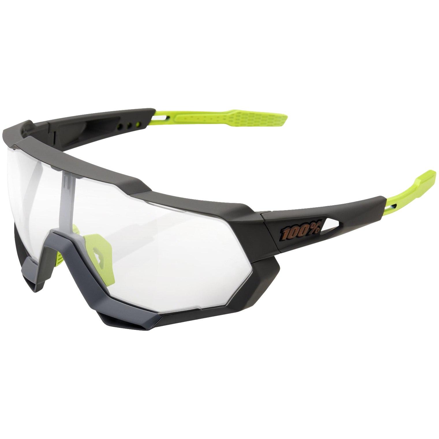 100% Speedtrap Photochromic Lens Glasses - Soft Tact Cool Grey