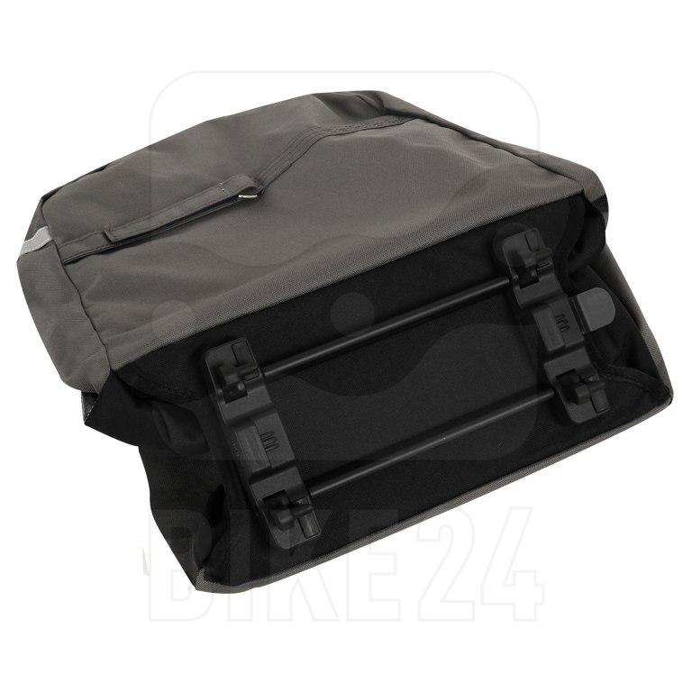 Image of Racktime Vida Double Bag Pannier - Carbon Black   Stone Grey