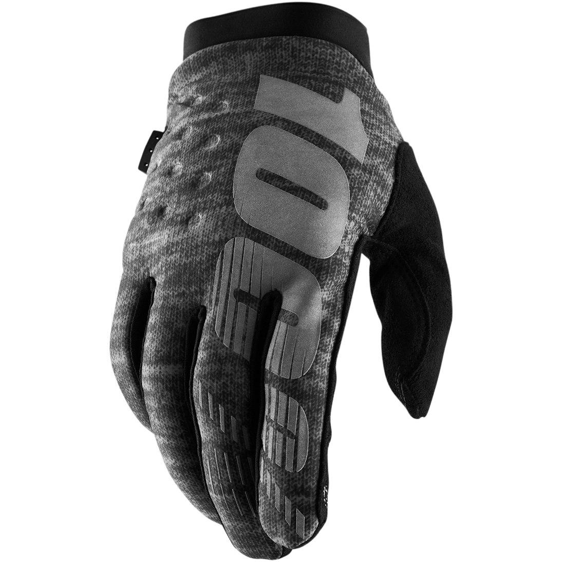 100% Brisker Cold Weather Glove - Heather Grey