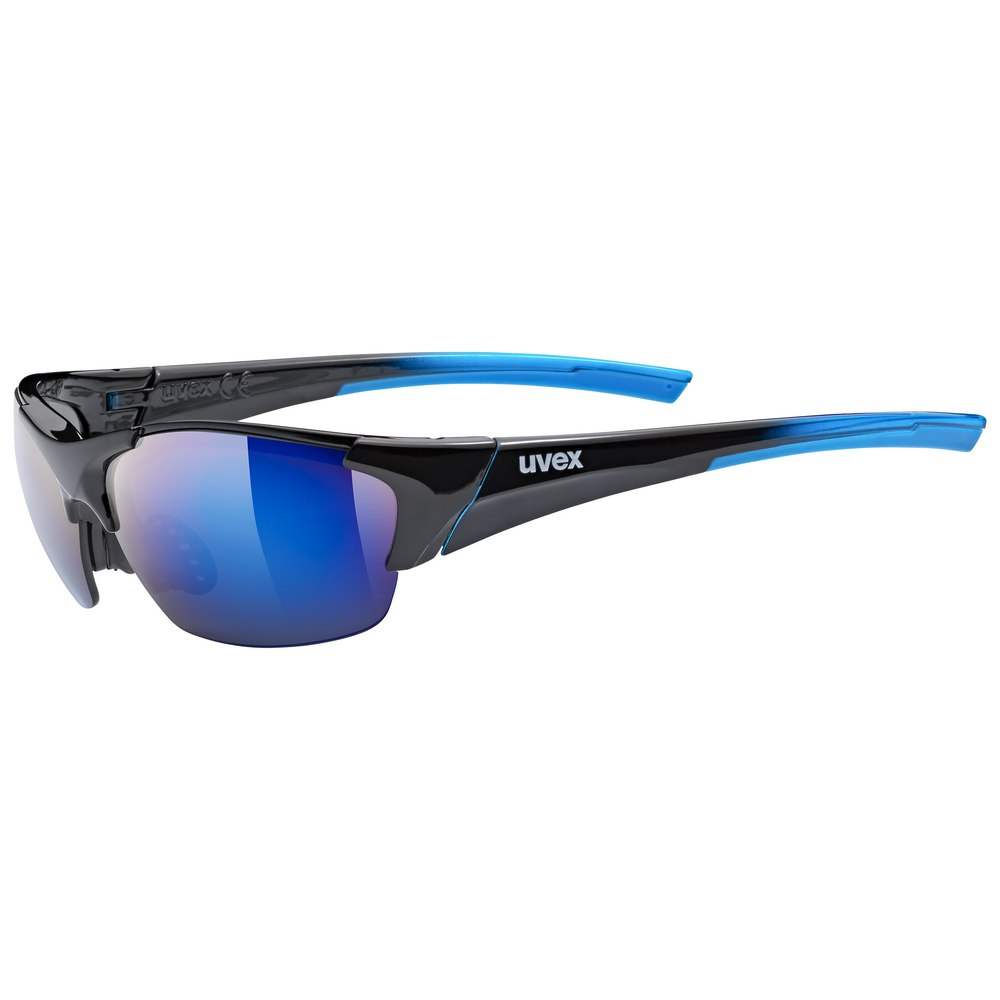 Uvex blaze III Glasses - black blue /mirror blue + litemirror orange + clear