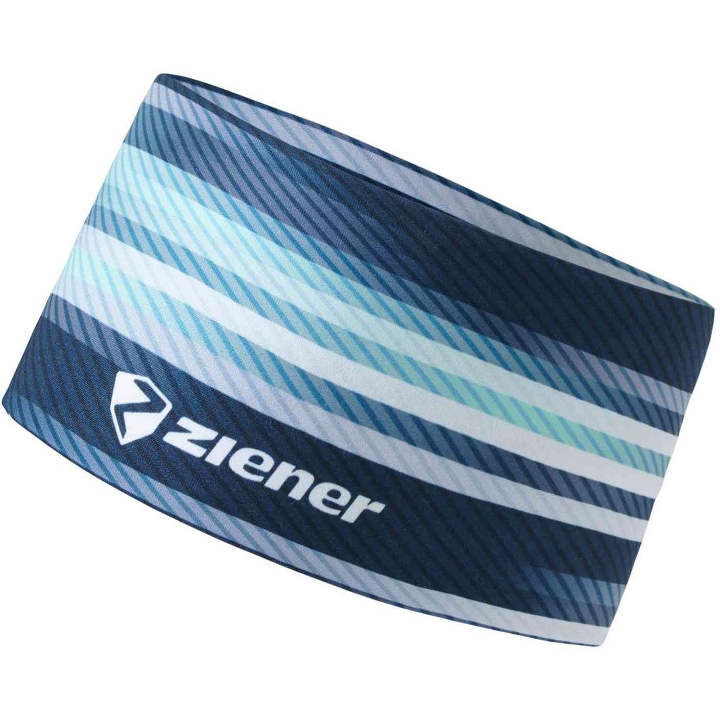 Image of Ziener Immre Headband - arcadian green stripe