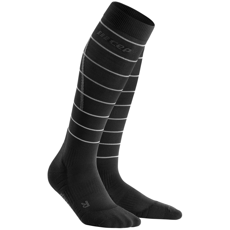 Image of CEP Reflective Compression Socks Women - black
