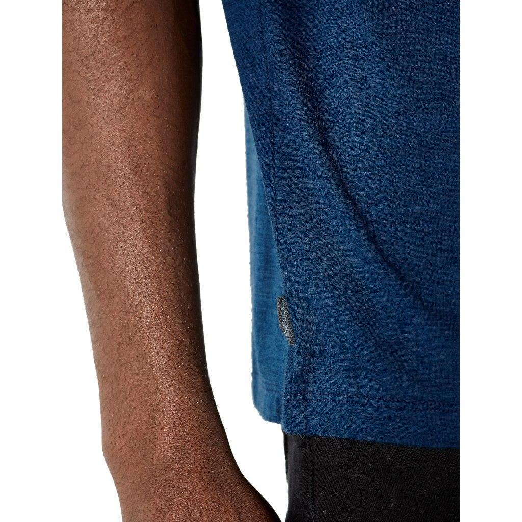 Bild von Icebreaker Nature Dye Drayden Pocket Crewe Herren T-Shirt - True Indigo