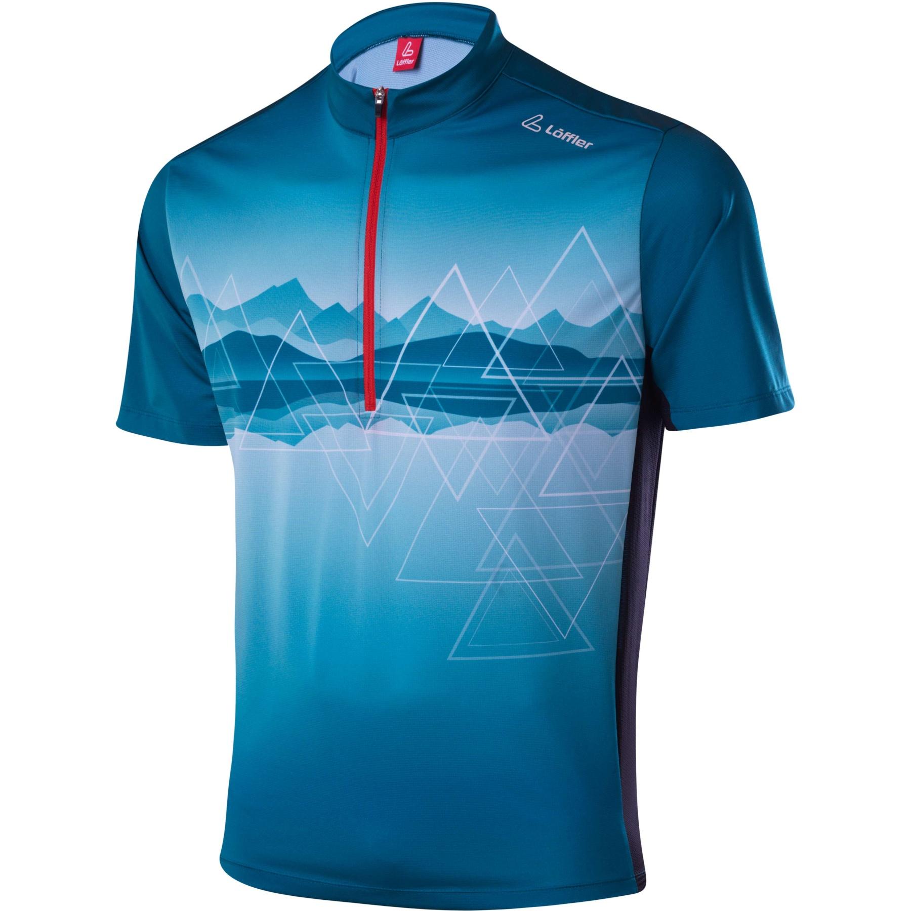 Löffler Bike Shirt HZ Peaks 24610 - deep water 470