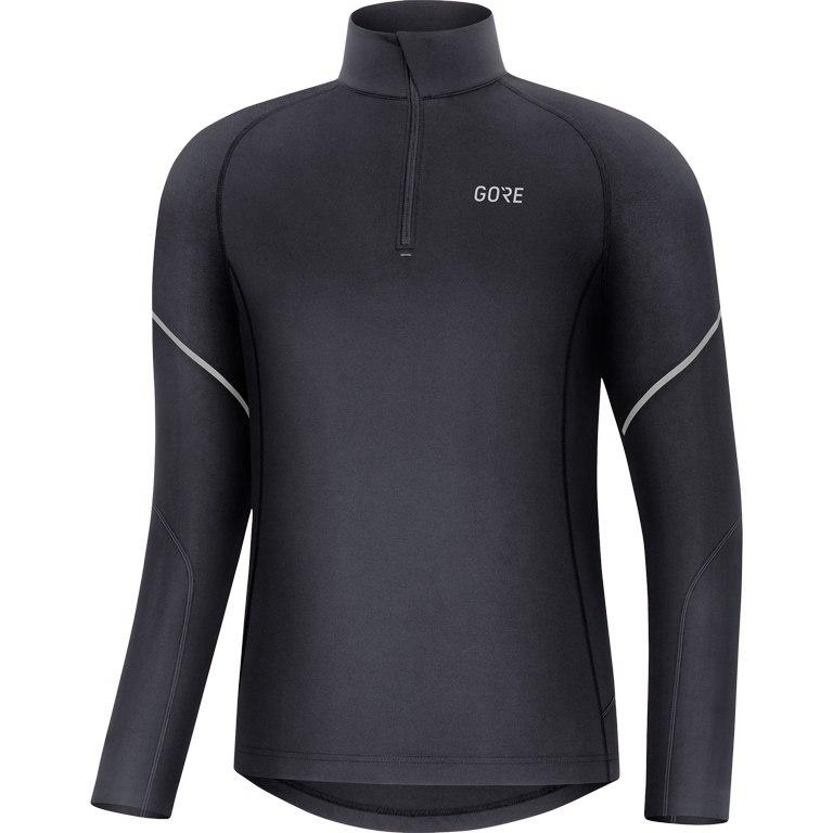 Produktbild von GORE Wear M Mid Zip Shirt langarm - black 9900