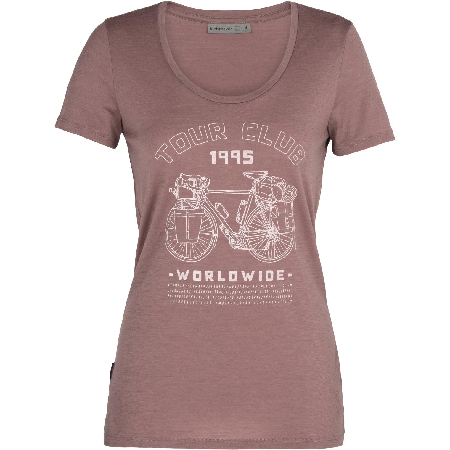 Produktbild von Icebreaker Tech Lite Scoop Tour Club 1995 Damen T-Shirt - Suede
