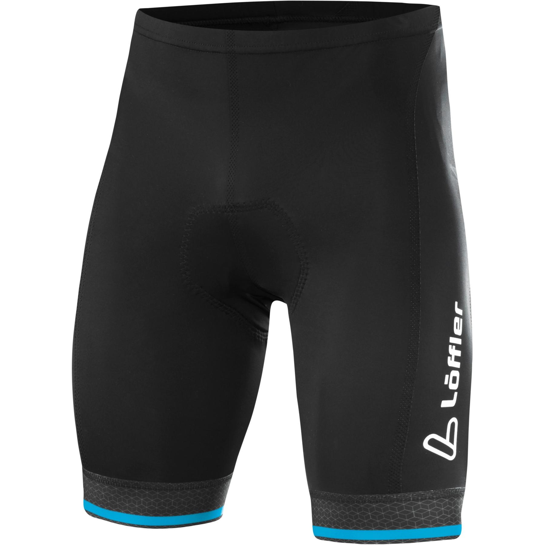 Löffler Bike Shorts Hotbond 23912 - black/blue lake 942