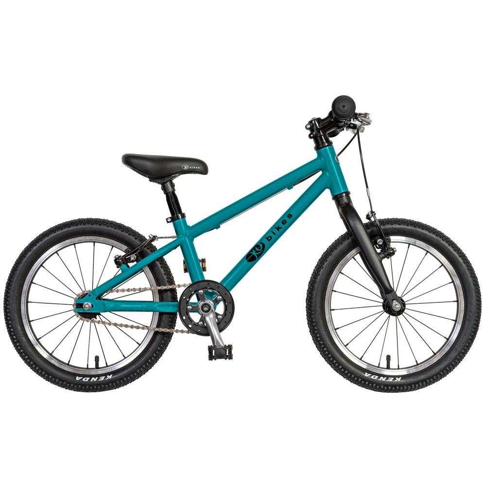 KUbikes 16L MTB Kids Bike - turquoise glitter