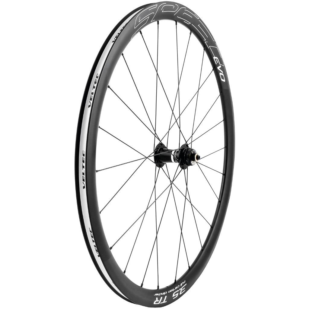 Veltec Speed EVO 3.5 TR Disc Carbon Front Wheel - Centerlock - Clincher - QR100/12x100/15x100mm