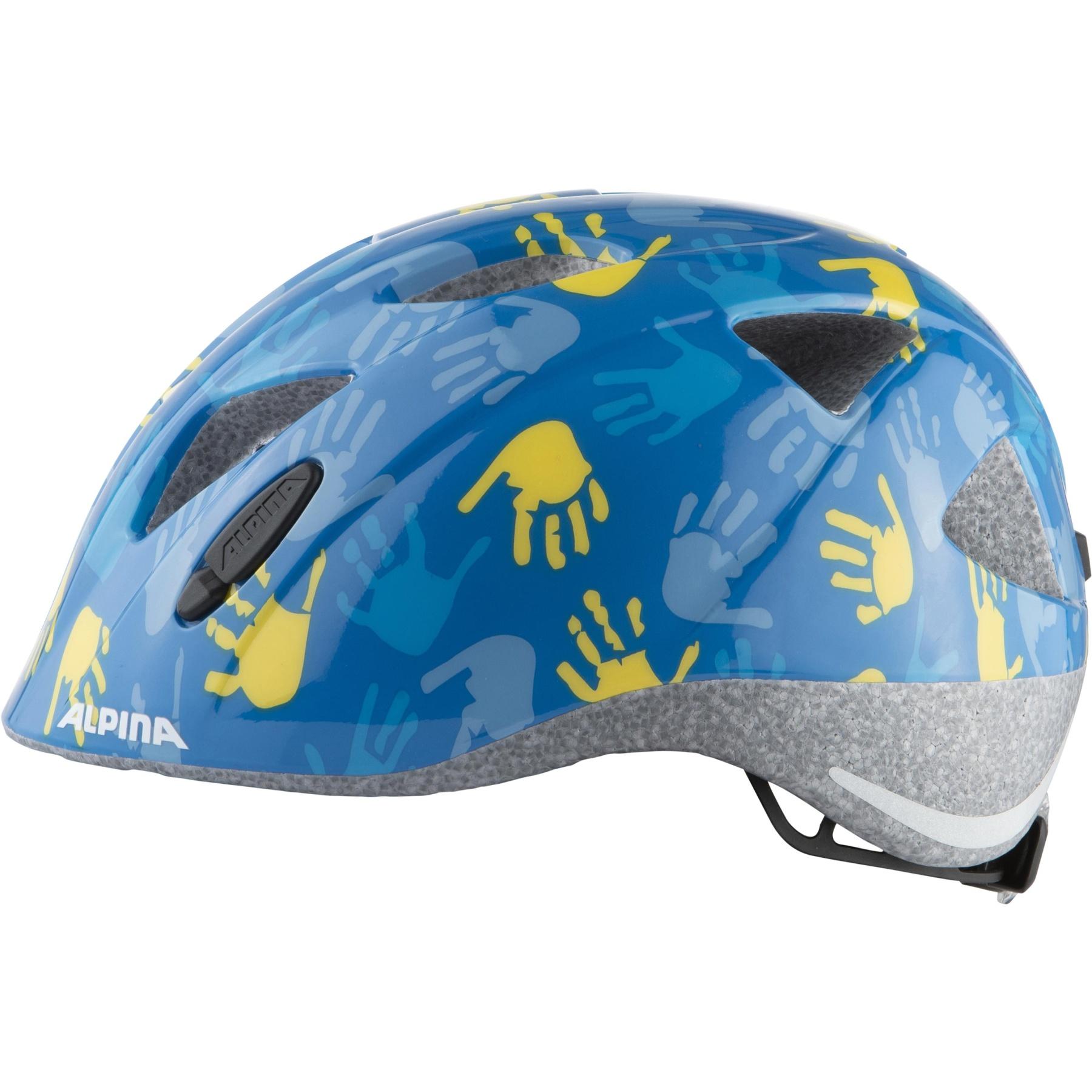 Image of Alpina Ximo Kids Helmet - blue hands gloss