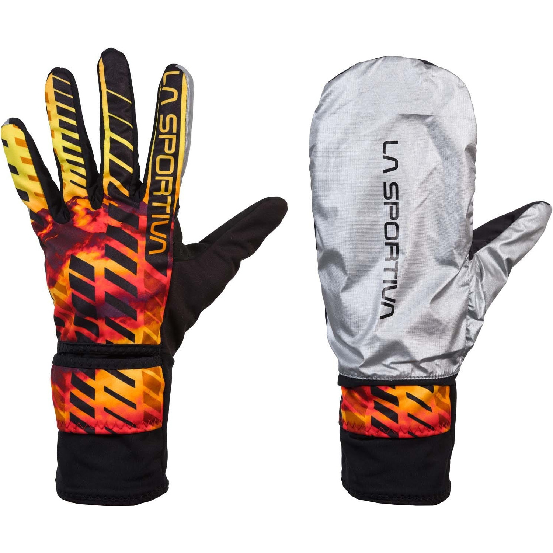 La Sportiva Winter Running Gloves Evo - Black/Yellow