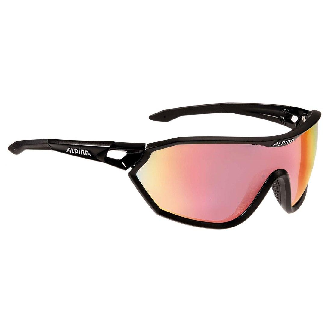Alpina S-Way QVM+ Black Matt/QuattroVarioflex Rainbow Mirrow - Glasses
