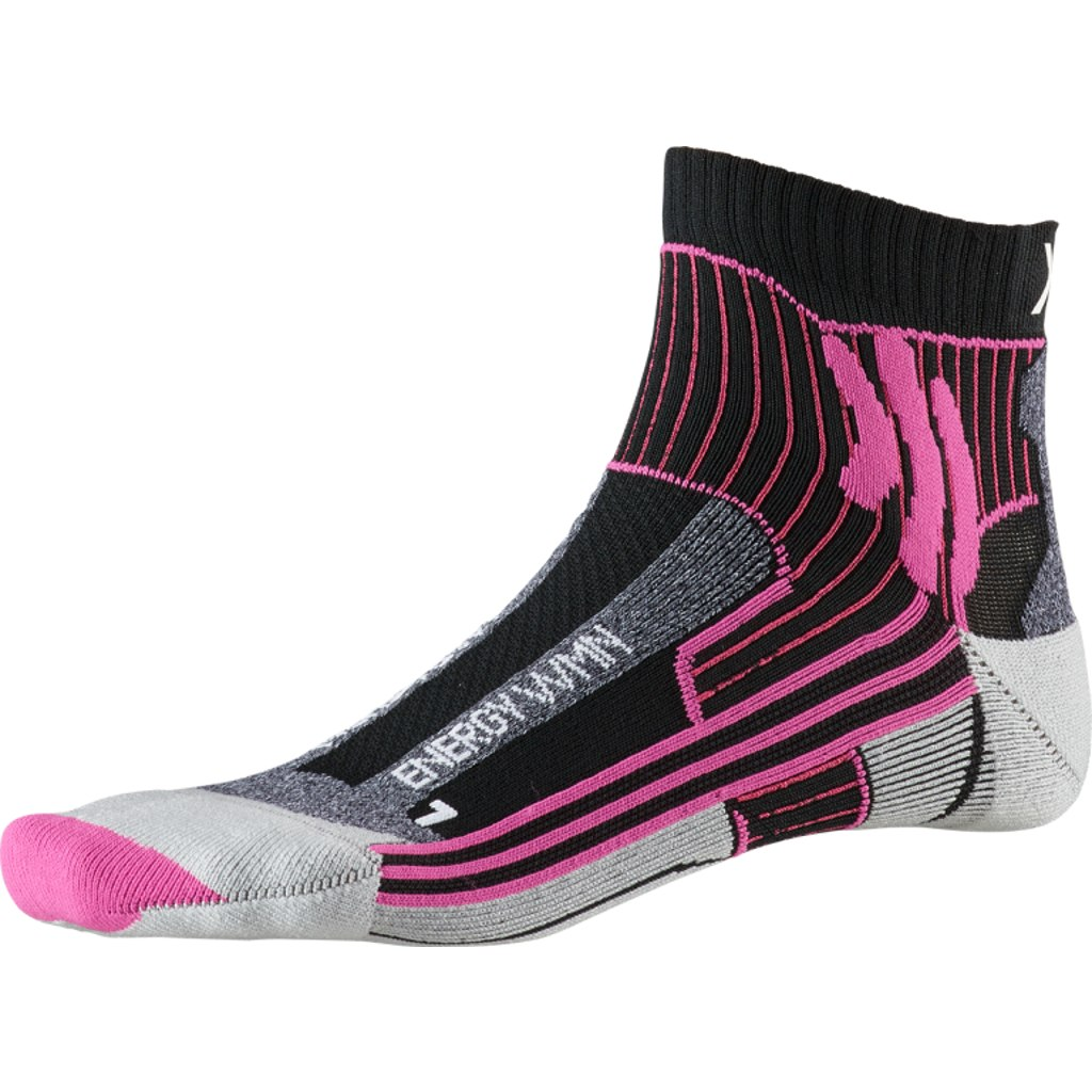 X-Socks Marathon Energy Damen Laufsocken - opal black/flamingo pink
