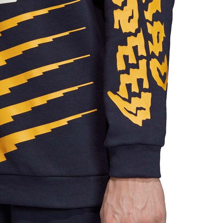 Image of adidas Men's ID Graphic Sweatshirt - legend ink EB7624