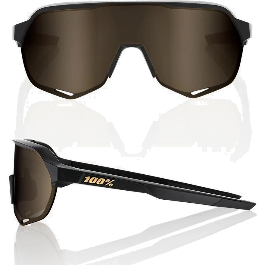 Imagen de 100% S2 Mirror Gafas - Matte Black/Soft Gold + Clear