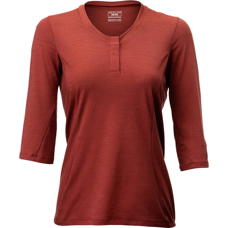 7mesh Desperado Merino Henley Camiseta para Mujer - pomegranate