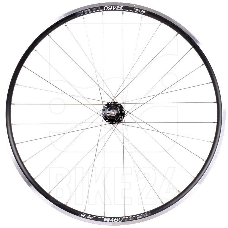 "SON 28 | DT Swiss R460 - 28"" Front Wheel with Hub Dynamo - Rim Brake - QR - black"