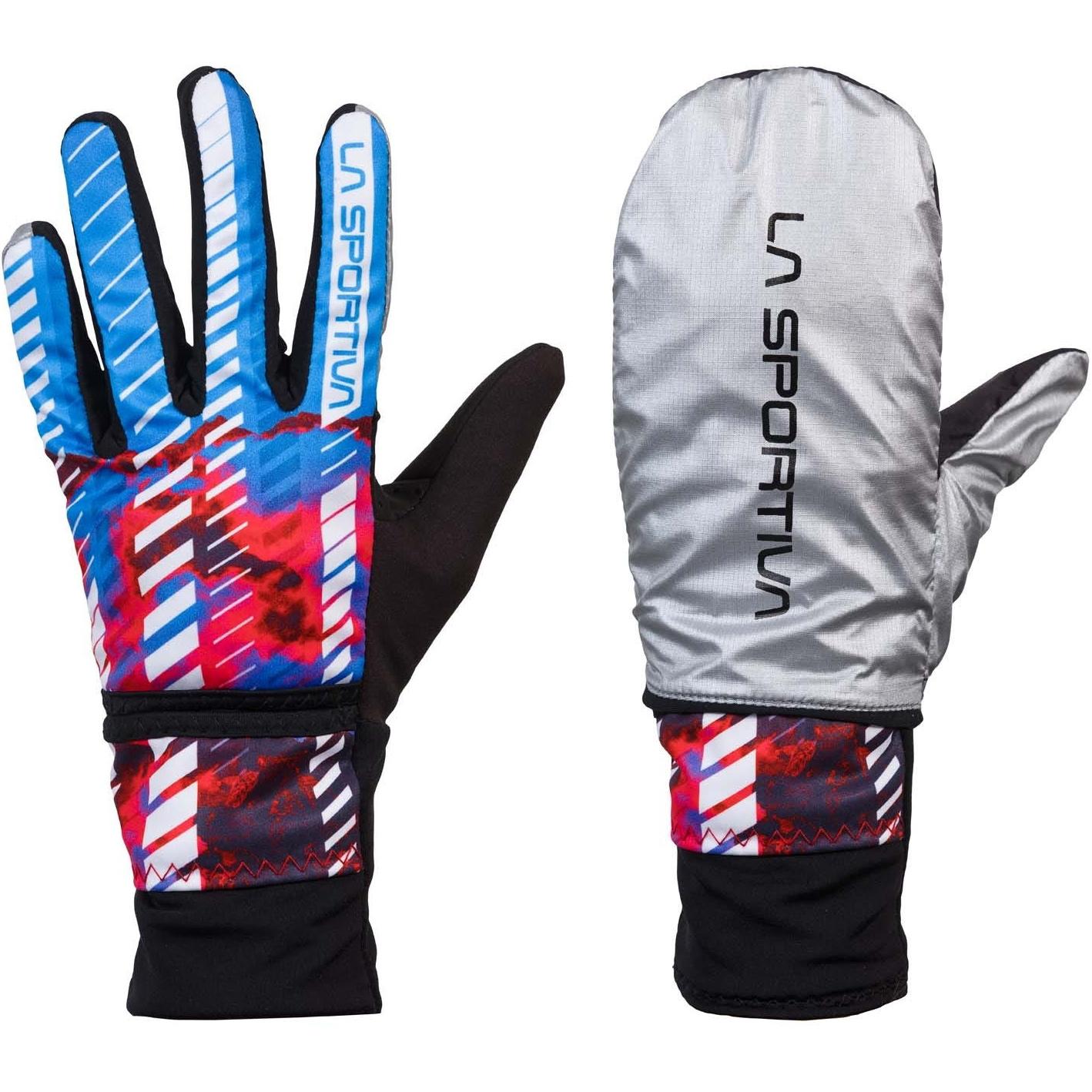 La Sportiva Winter Running Gloves Evo Women - Malibu Blue/Hibiscus
