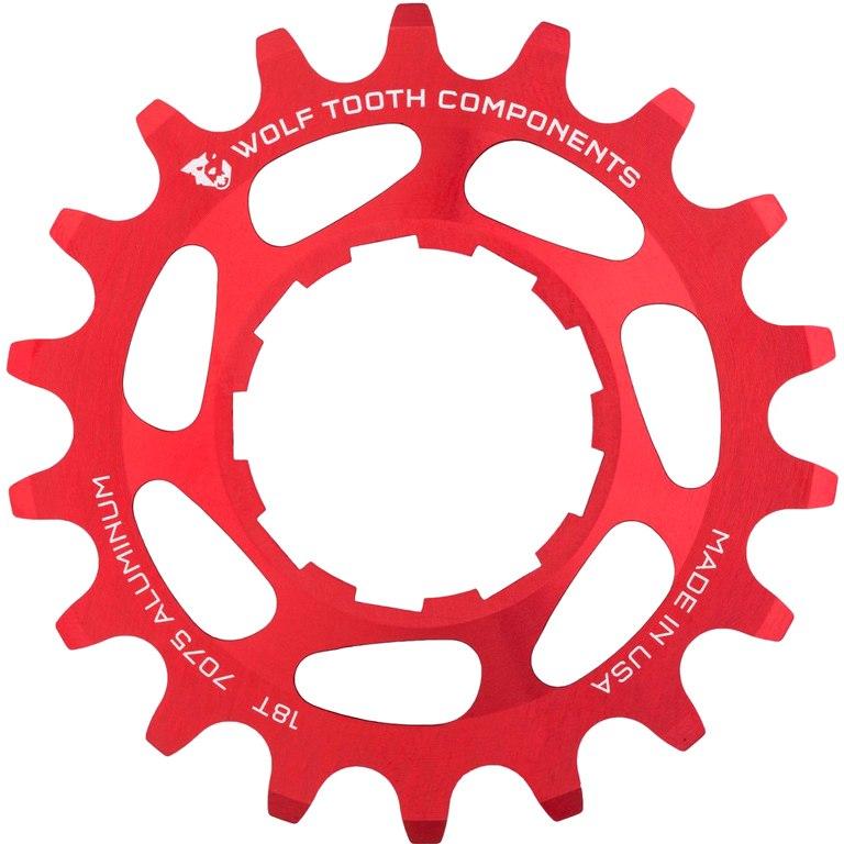 Wolf Tooth Single Speed Cog CNC Aluminium - red