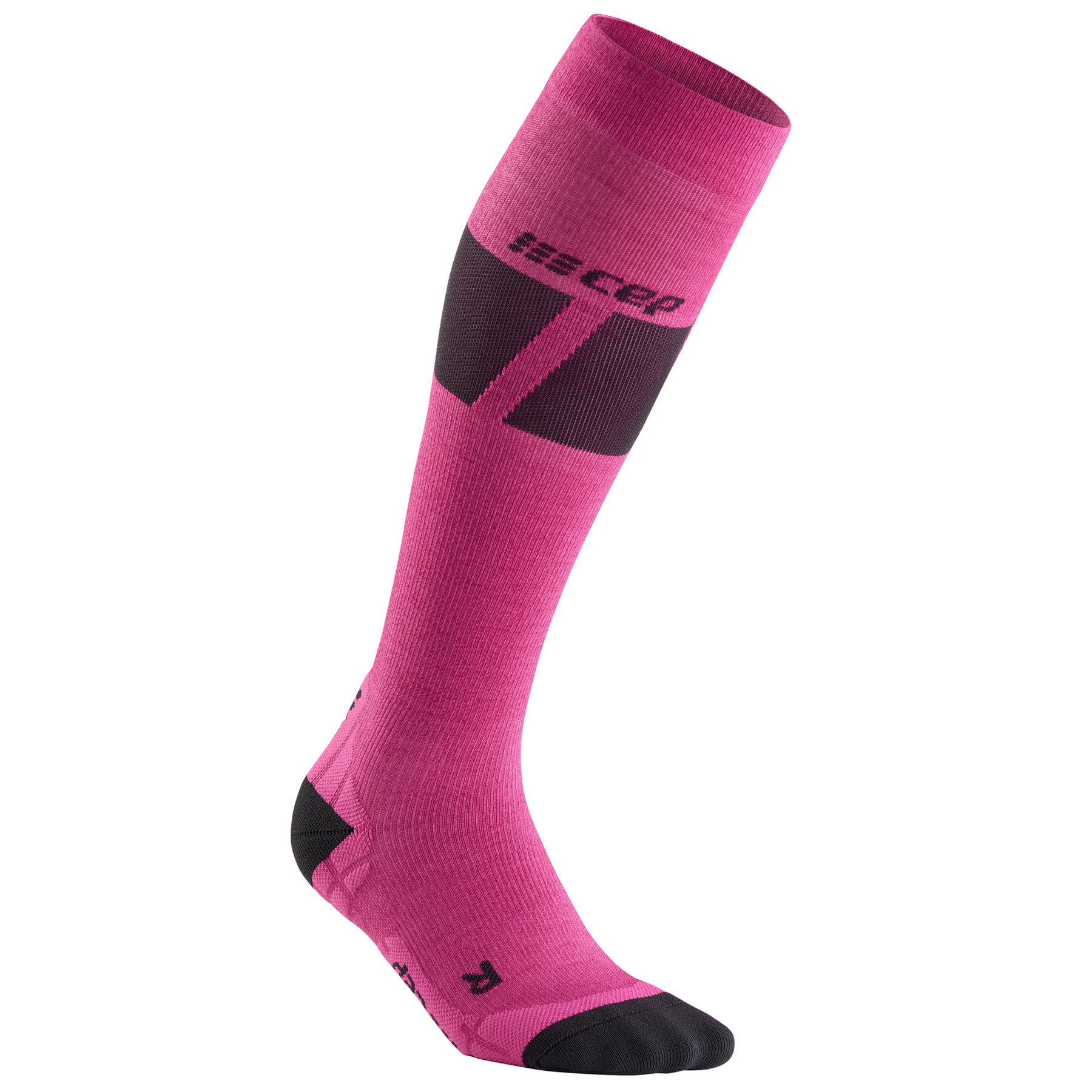 CEP Ski Ultralight Compression Socks Women - pink/dark grey