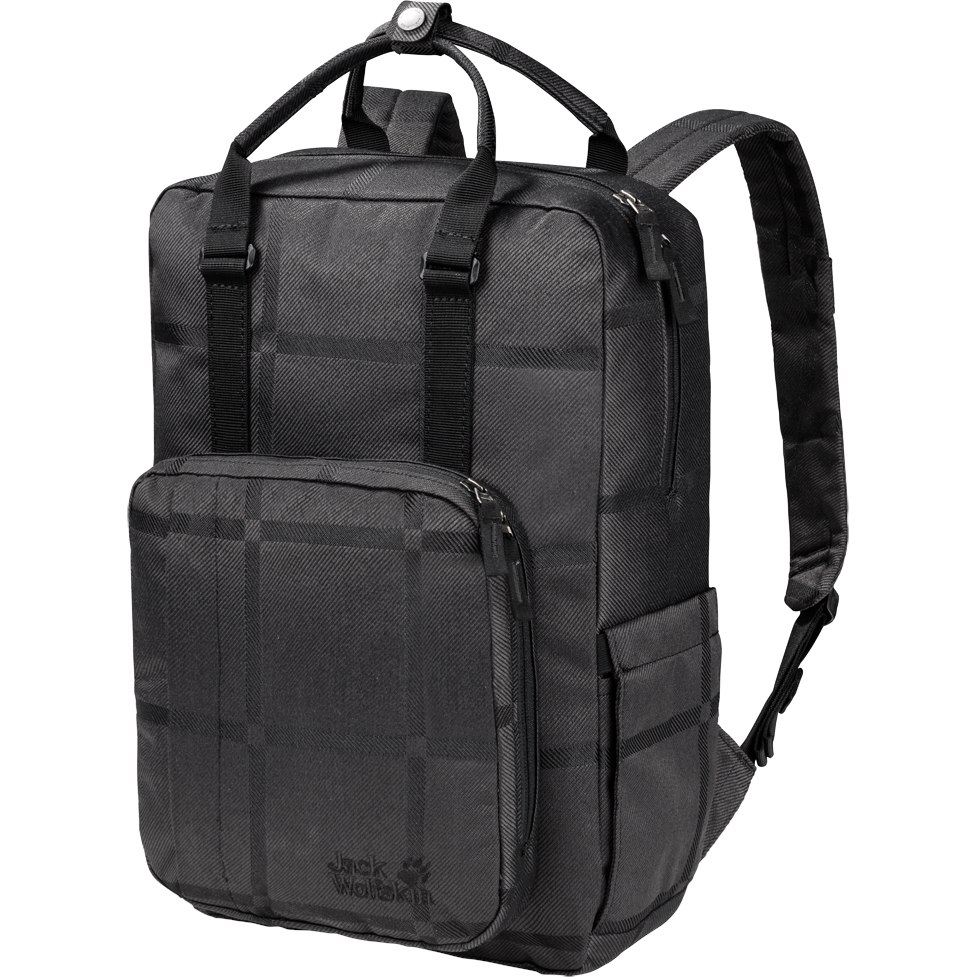 Jack Wolfskin Phoenix Y.D. Women's Backpack - black big check