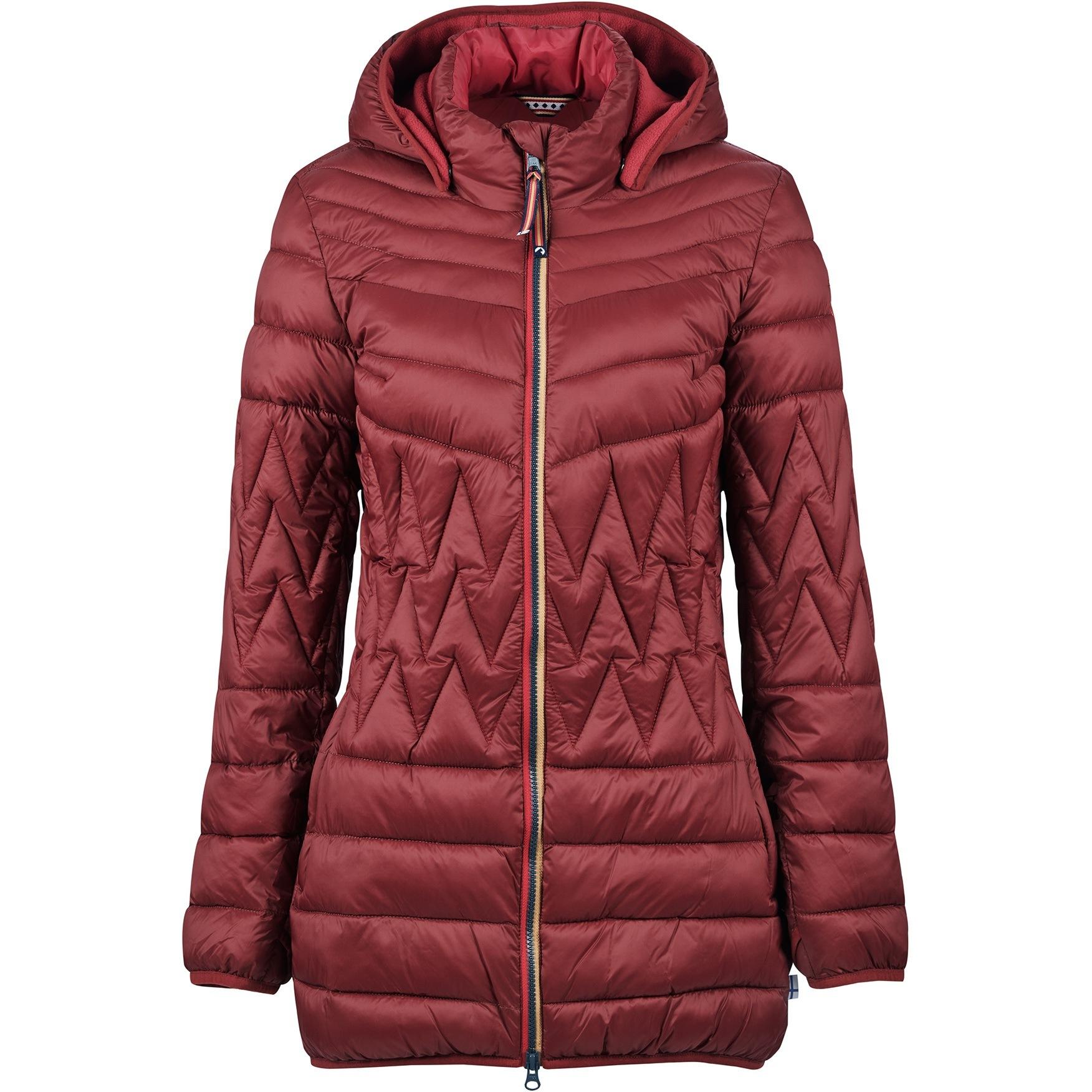 Finside LAHTI Zip in Inner Jacket - Women Quilted Coat - cabernet