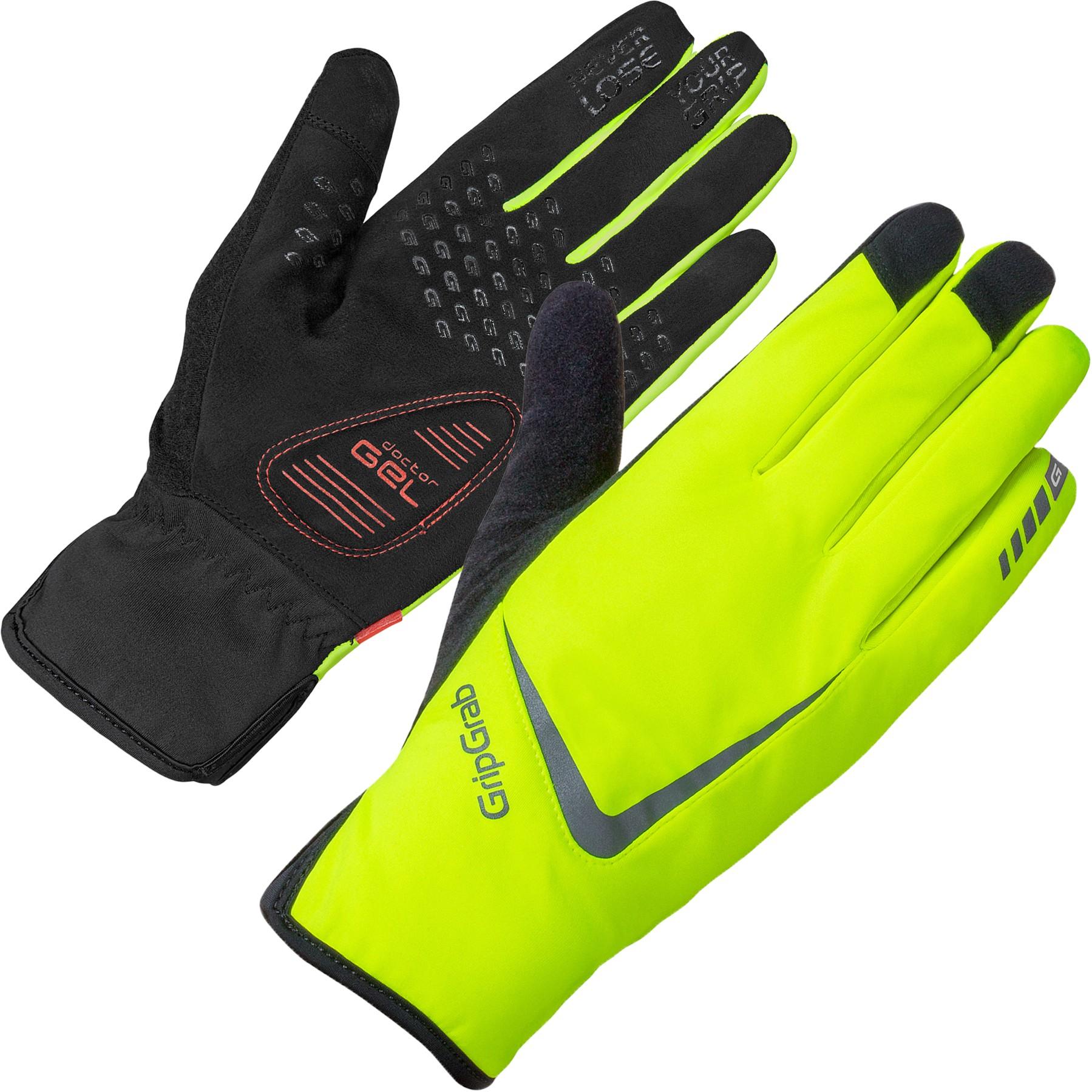 GripGrab Cloudburst Hi-Vis Waterproof Midseason Glove - Yellow Hi-Vis