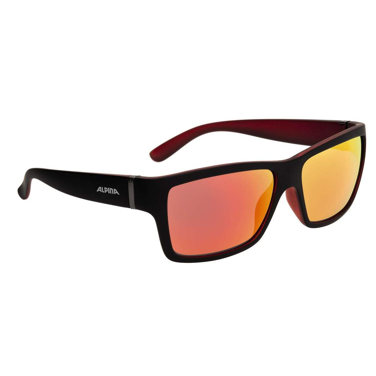 Alpina Kacey Glasses - Black Matt-Red/CeramiC Mirror Red
