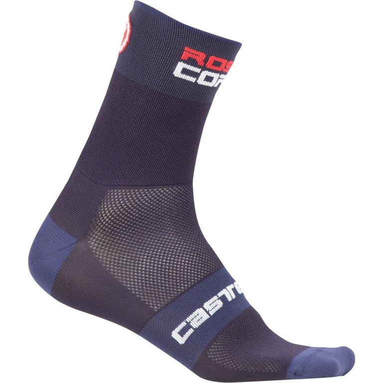 Image of Castelli Rosso Corsa 6 Socks - dark steel blue 070