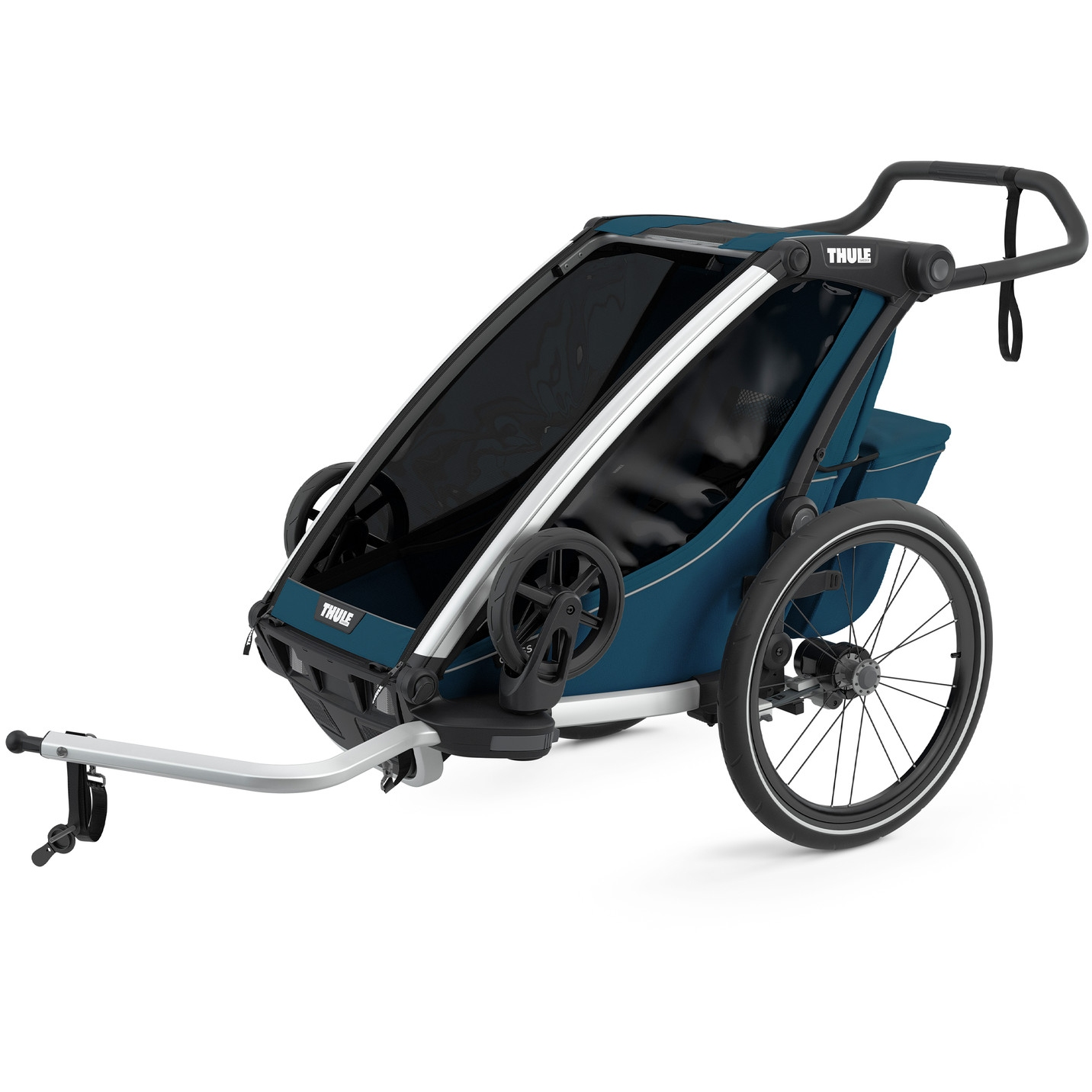 Foto de Thule Chariot Cross 1 - Remolque de bicicleta para 1 niño - majolica blue