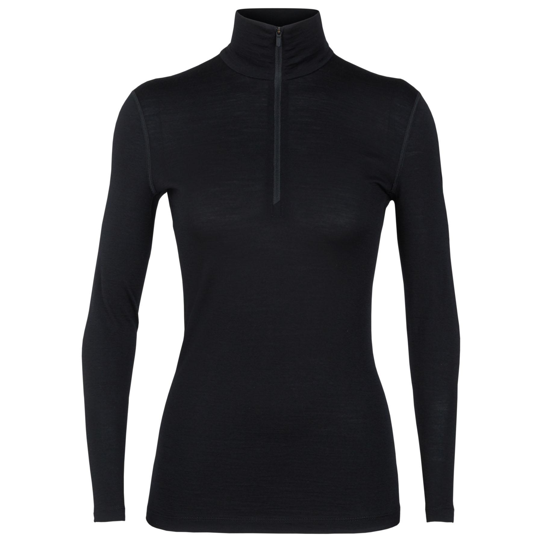 Produktbild von Icebreaker 200 Oasis Half Zip Damen Langarmshirt - Black